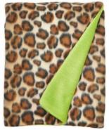 Baby Blanket Zandino Cheetah Baby Blanket Lime Green 30 inches W by 40 I... - $16.82