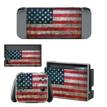 Nintendo Switch Joy-Con Console Skin Vinyl Sticker Flag US United States America - $7.43
