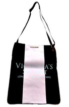 Victoria's Secret Canvas Cross Body Bag Black & Pink - $40.00