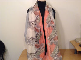 MAD fashion New scarf  Pastels Floral and High Heel Shoe Pattern choice of color image 3