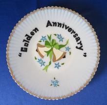 MacBeth Evans, Hand Painted, Monax Salver, Golden Anniversary - $18.00