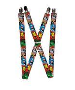 Marvel Comics Avengers Superheroes Logo Suspenders  - $13.99
