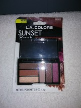 L.A. Colors 6-Color Compact Eyeshadow Palette w/Mirror - *SUNSET BREAK* - $5.45