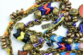 Vanessa Mooney Poppystack Necklace BOHO Multi Tier Strand Multicolor Beads image 7