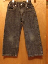 Faded Glory boys size 5 BLUE JEANS SIZE 19x16 boot cut - $2.95