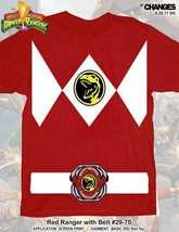 Mighty Morphin Power Rangers Red Ranger Halloween Superhero Costume Tee ... - $19.99+