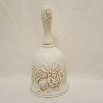 "Remembrance Bell 6""  Bisque Porcelain Creative Circle 8395 Off White - $9.99"