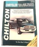 CHILTON CHRYSLER FULL SIZE TRUCKS 1989-1996 REPAIR MANUAL FREE SHIPPING! - $11.95