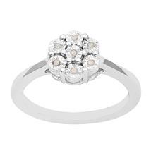 Cubic Zirconia Flower 925 Sterling Silver women Anniversary Engagement R... - $14.22
