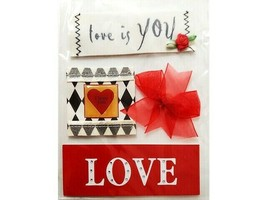 Love Sticker Set, Set of 4 Large Pieces, Great for Valentine's Day!