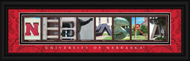University of Nebraska Officially Licensed Framed Letter Art  - $39.95