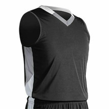 Champro Adult Rebel Basketball Jersey Blk Sil Wht XL - $20.20