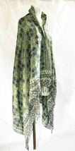 Elegant Cotton Rayon Viscose  Fabric Batik Scarf/shawl Handmade from Jav... - $48.00
