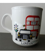 LONDON Mug by SPIKE Leisurewear Coffee Cup Double Decker Bus Stop Light ... - $18.22