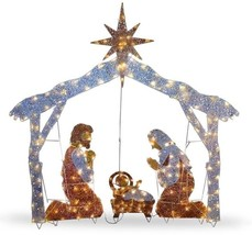 Christmas Nativity Scene Lighted Outdoor Holiday Xmas Yard Decorations L... - ₨11,643.28 INR