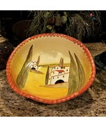 ITALICA ARS Hand Painted Pottery Basin Bowl Made in Italy Statement Art ... - $229.95