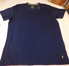Polo Ralph Lauren underwear Mens Sleep Lounge V Neck Shirt PL84SR MBR navy L lg - $26.72