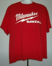 Milwaukee Tool Sawzall The Best Just Got Better T Shirt Mens 2XL Red Whi... - $21.73