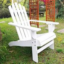 SFYLODS White Outdoor Painted Wood Fashion Adirondack Chair/Muskoka Chai... - $96.07