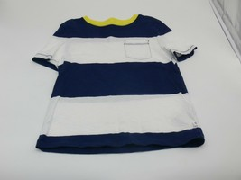 Gap Kids Boys Stripe Shirt Black White Short Sleeve Size S  - $6.50