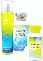 Bath and Body Works Tahiti Island Dream 3 Pc. Body Lotion Travel Lotion ... - $23.98