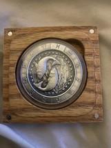 Zodiac Horoscope Pisces The Fish 1 oz Silver Antiqued Capsuled UHR Round... - $69.29