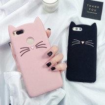 3D Mustache Cat Silicon Coque For Xiaomi Redmi Note 4X 3 4 4A Cover For ... - $13.95