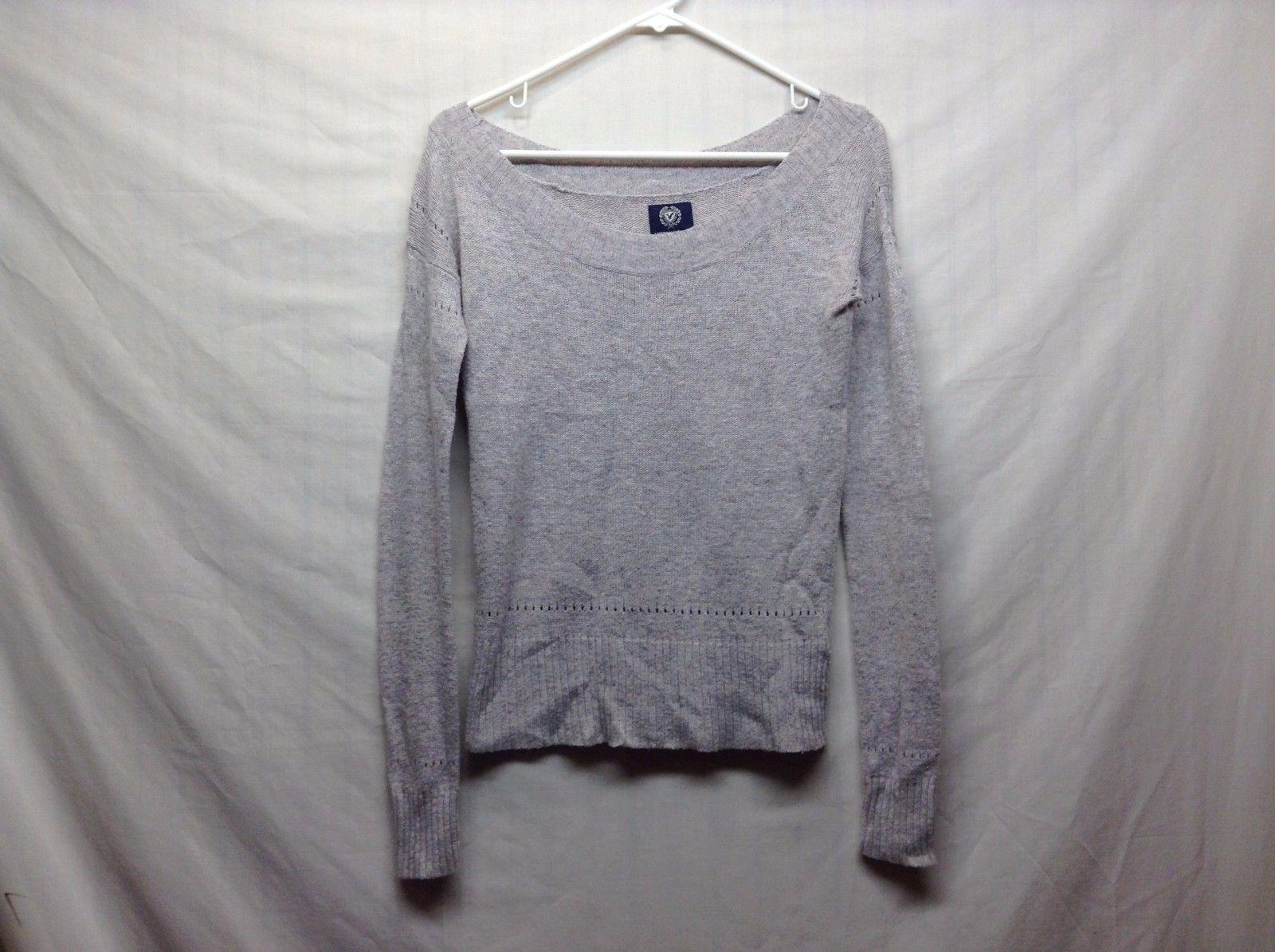 American Eagle Wool Blend Gray Lavender Sweater Sz XS