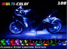 10pc Car Truck Bike Wireless 15-Color Flex108 LED Motorcycle Lighting Kit F150 - $98.95
