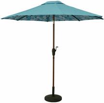 Allen + Roth Blue Leaf Market 9-ft Auto-tilt Round Patio Umbrella Alumin... - $99.00