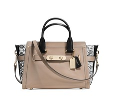 NWT COACH SWAGGER CARRYALL COLOR BLOCK EXOTIC E... - $279.61