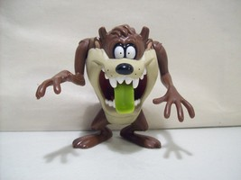 VINTAGE LOONEY TUNES TAZ ACTION FIGURE WITH GREEN TONGUE 1997 WARNER BROS. - $11.12