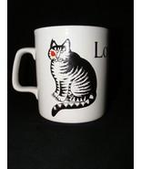 B Kliban Cat Mug Love a Cat Kiln Craft Stafforshire Potteries Signed - $9.95