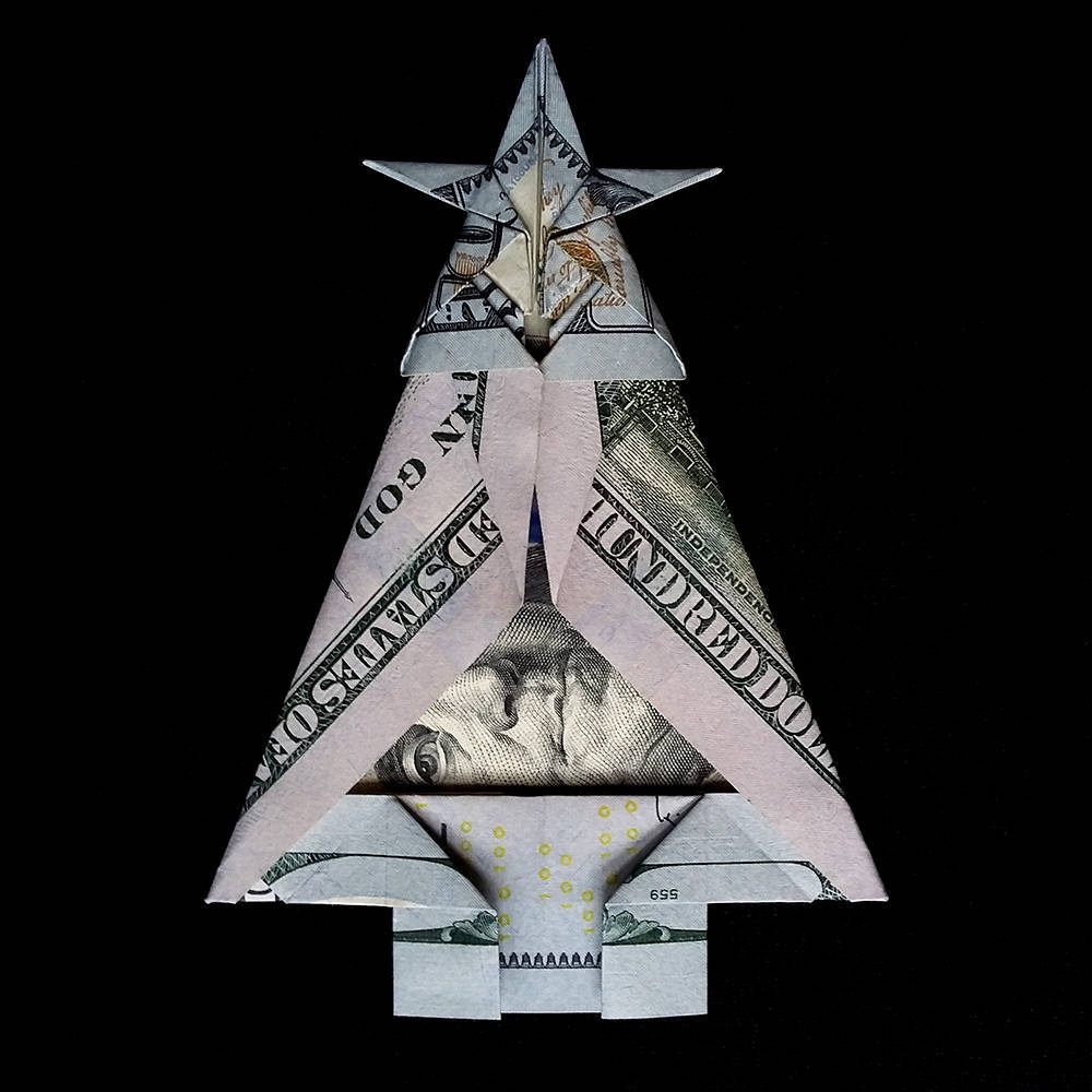 How to Make an Origami Tree out of Money | 1000x1000
