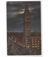 Daniels & Fishers Tower at Night Denver Colorado 1910s postcard - £4.54 GBP