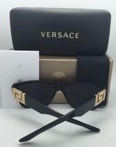 New VERSACE Sunglasses VE 4339 5248/87 55-20 Black & Gold Frame w/ Grey Lenses