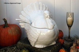 POTTERY BARN TURKEY TUREEN -NIB- ICONIC, NEVER NEEDS CARVING AND READY T... - $149.95