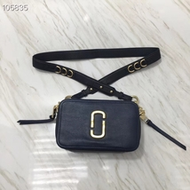 Marc Jacobs The Softshot 21 Leather Crossbody Bag Navy Blue - $275.00+
