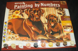 """New in Package Reeves Paint By Numbers Kit """"Resting Labradors."""" - $9.89"""