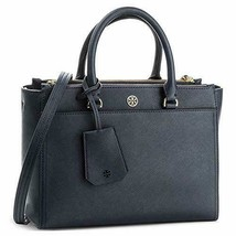 Tory Burch Women's Small Robinson Double-Zip Leather Top-Handle Bag (Navy) - $368.00