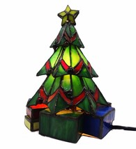 Meyda Tiffany Christmas Tree Accent Lamp w/ 1 Light 9 Inches Tall - $169.00