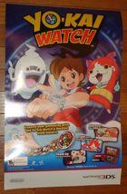 Yo-Kai Watch Promotional Nintendo 3DS Video Game Poster - $9.95