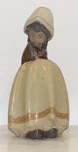 ADORABLE LLADRO SPAIN GRES FINISH GIRL WITH HANDS BEHIND BACK PORCELAIN ... - $95.62