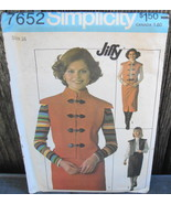 Simplicity 7652 Toggle Front Jacket and Skirt Pattern 1976 Size 16* - $18.99