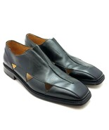 Mezlan Mens Loafers Black Leather Slip On Size 8.5 M Made in Spain - $79.87