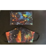 Face Mask & Carry Pouch Bag. 3 Layer Protection. Handmade USA #3 Celestial  - $16.00
