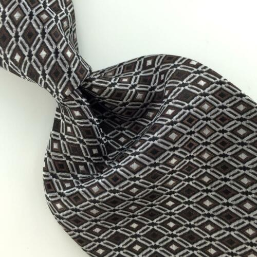 Primary image for VAN HEUSEN WOVEN DIAMONDS BROWN THICK BLACK Mens Necktie Tie IP4-472 New