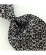 VAN HEUSEN WOVEN DIAMONDS BROWN THICK BLACK Mens Necktie Tie IP4-472 New - $19.78