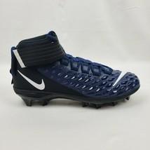Nike Men Force Savage Pro 2 Mid Navy Black Football Cleats AH4000-403 Sz 8.5 1A - $58.45