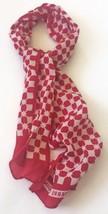 Vtg Pierre Cardin Paris Fashion Scarf Red White Geometric Lightweight - $21.77